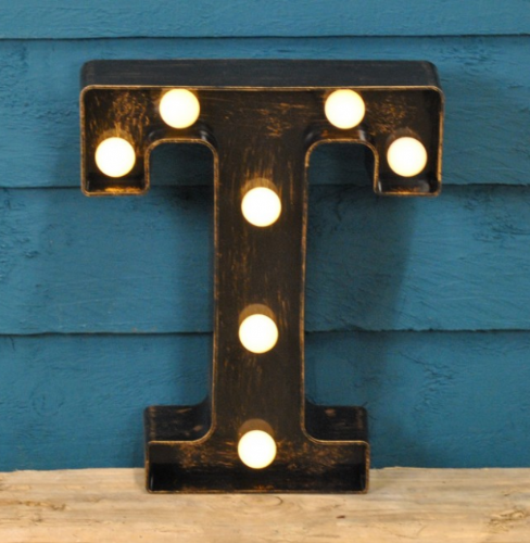 Letter T- Battery Operated Lumiere